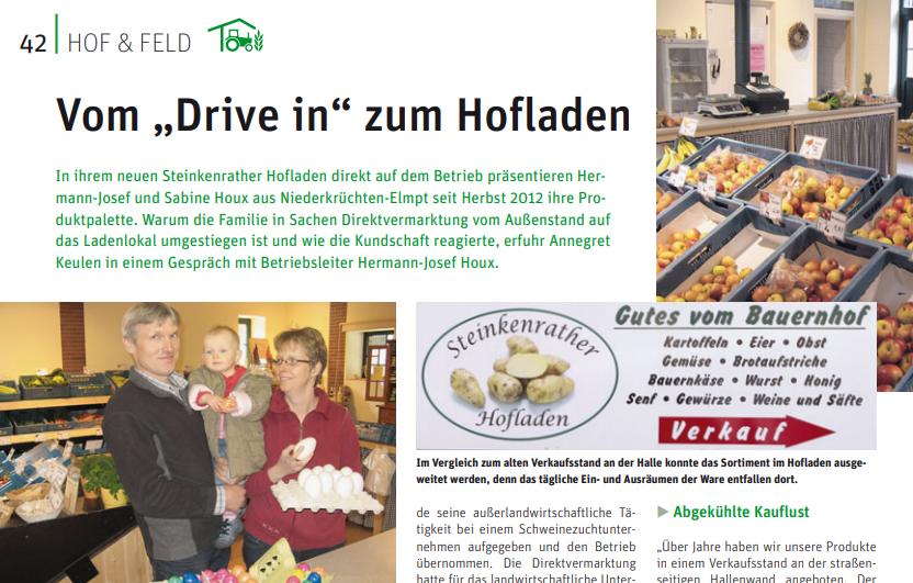 """Vom """"Drive in"""" zum Hofladen"""